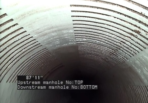 Camera View Down Overflow Pipe